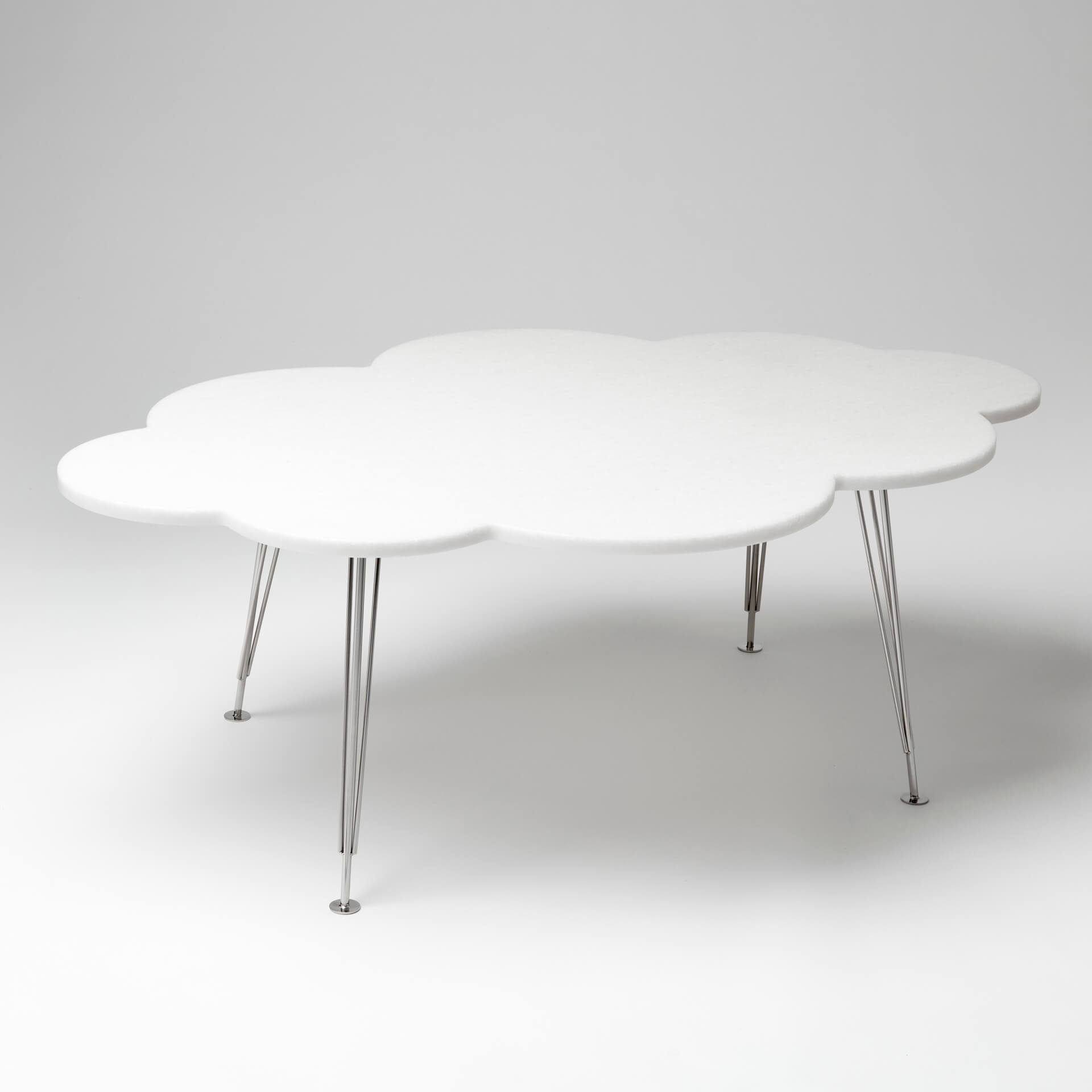 The Cloud Table – coffee table – white marble bianco neve – Molnbordet
